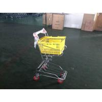 Wholesale Chrome plated Shopping Basket Trolley , personal shopping cart from china suppliers