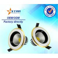Wholesale 1*5w Gold COB Led Recessed Ceiling Downlights IC Constant current driver inside from china suppliers