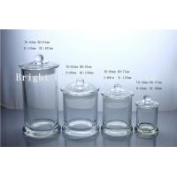 Wholesale different size glass candle jars with custom lid in stock from china suppliers