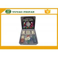 Quality 100 Pcs Tin Box Texas Holdem Luxury Poker Chips Set Personalized Poker Chips for sale