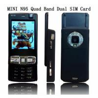 Wholesale Mini n95 quadband dual sim card mobile phone with good price ! from china suppliers