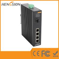 Wholesale 1 Gigabit FX SFP Fiber Port / 4 Gigabit TX Ports Industrial Gigabit Ethernet Switch from china suppliers