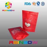 Wholesale Red matt surface aluminumf oil bottom gusset bags foe snack / cake packaging from china suppliers