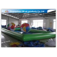 Wholesale Green Inflatable Swimming Pool Toys , Inflatable Kiddie Pools With Colorful Balls from china suppliers