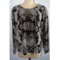 Wholesale Women Leopard Cashmere Sweater , Long Sleeve Pullover Sweater 12 Gauge from china suppliers