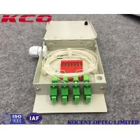 Wholesale Indoor Fiber Optic Terminal OTB Wall Mountable Face Plate 4 SC/UPC Adapter Ports from china suppliers