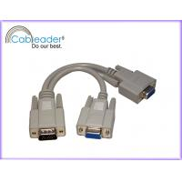 Wholesale Nickel plated connector, PVC jacket HD 15 VGA to 2 Female Monitor Cables from china suppliers