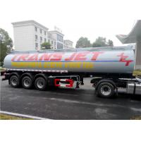 Wholesale Stainless Steel 30 Tons Fuel Tank Trailer Tri-Axle 35000L 35M3 Fuel Oil Transport Tank Semi trailer from china suppliers