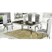 Wholesale luxury dining set, dining table, glass table, royal dining chairs, #6005 from china suppliers