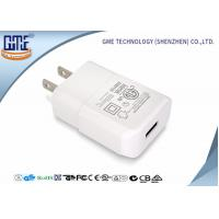 Quality Intertek Small Size Pure White US Plug 5V 2A Wall USB Charger with One Port for sale