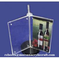 Buy cheap Custom Design 3 Side A4 Acrylic Menu Display Holder from wholesalers