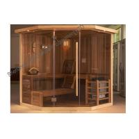 Wholesale Polygon Cedar Traditional Sauna Indoor For 3 Person - 6 Person from china suppliers