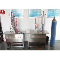 Wholesale Pneumatic Aerosol Can Bag On Valve Filling Machine Semi Automatic BOV Filling Machines from china suppliers