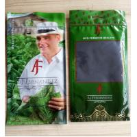 Quality custom design printed small resealable ziplock cigar wraps plastic bags for sale