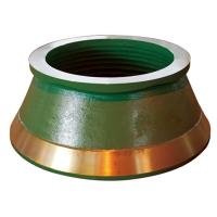 Buy cheap Terex Finlay Parts high manganese steel casting cone crusher bowl liner mantle and concave from wholesalers