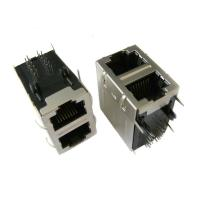 Wholesale Standard POE Stacked RJ45 PCB Connector IEEE 802.3af , LPJ Series 10/100/1000 Base-T from china suppliers