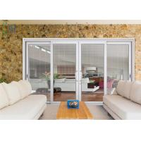 Wholesale Aluminium Powder Coated Doors With Shutter , Sound Insulation Aluminum Glass Doors from china suppliers