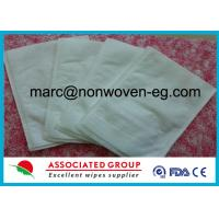 Wholesale Disposable Wash Gloves Made of Highly Absorbent Non Woven Polyester / Viscose Material from china suppliers