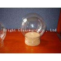 Wholesale Ball shape glass lamp shade with wooden lid wholesale from china suppliers