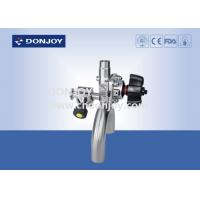 Buy cheap 4 Inch SS 316L Manual Multi port Sanitary Diaphragm Valve U - B Tee Type from wholesalers