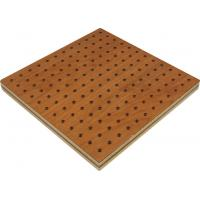 Wholesale Free Standing Wooden Perforated Acoustic Panel , Low Formaldehyde from china suppliers
