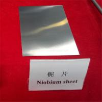 Wholesale 99.95% ASTM B393 Smooth bright annealed niobium plates/sheets for sale from china suppliers
