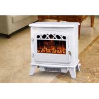 Wholesale log burning electric flame effect fires fireplace stove ND-181M chimenea electrica White from china suppliers