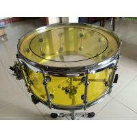 """Wholesale Brand New 14""""x6"""" Acoustic Transparent Yellow Acrylic Snare Drum from china suppliers"""