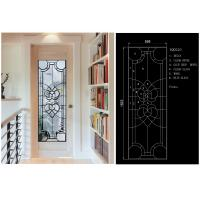 Wholesale Solid Flat Tempered Decorative Glass Windows Private Imports Series Finely Detailed from china suppliers