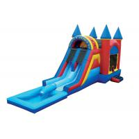 Wholesale EN71 Huge Children Bouncy Castles Inflatable Double Slide With Pool from china suppliers