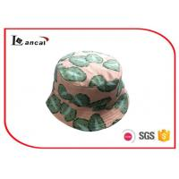 Wholesale Leaves Printed Personalized Bucket Hats , 60cm Head Circumference With Natural Cotton Lining from china suppliers