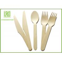 Wholesale Amazon Hot Sell Eco Friendly Disposable Tableware Wooden Cultery Set Spoon Fork Knife from china suppliers