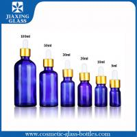 Wholesale 1Oz Cobalt Blue Essential Oil Glass Bottle With Glass Eye Dropper from china suppliers