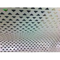 Wholesale Aluminum Decoration Perforated Metal Screen With Triangle Hole punching from china suppliers