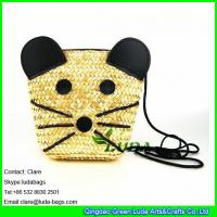 Wholesale LDMC-011 wheat straw handbag, girls beach bag,mickey straw shoulder bag from china suppliers