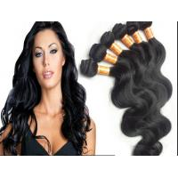 Wholesale Color 1B Body Wave Peruvian Human Hair Extensions With Unprocessed from china suppliers