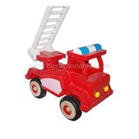 Quality Wooden fire truck, wood truck toy for sale