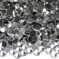 Wholesale crystal clear flat back hot fix rhinestone machine cut glass stone from china suppliers