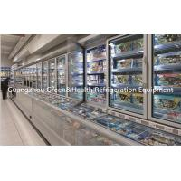 Wholesale Red / Yellow Electric Combine Freezer Cabinet 4 doors Energy Saving from china suppliers
