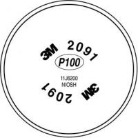 Quality 3M Particulate Filter 2091/07000(AAD), P100 Respiratory Protection, 100/cs for sale