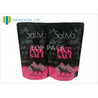 Wholesale Pink Salt Stand Up Pouch Packaging Bags Matte Clear Front Zipper Top from china suppliers