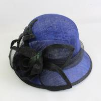 China Hot sale short brim sinamay hats for church horse racing hats for lady on sale