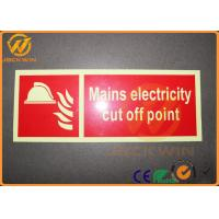 Quality Reflective Safety Traffic Warning Signs For Mains Electricity Cut Off Point for sale