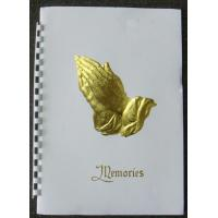 Wholesale Plain Gold Stampled Praying Hands Funeral Memorial Register Books from china suppliers