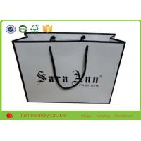 Wholesale Handcraft Promotional Paper Bags 21 X 25 X 10 Cm Hot Stamping Logo With Green Ribbon from china suppliers