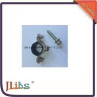 Wholesale Iron Sheet Material Pipe Fitting Clamps M7 Withinner Rubber with Screw from china suppliers
