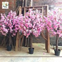 Wholesale UVG fake cherry blossom decorative artificial wooden tree for top table landscaping CHR164 from china suppliers