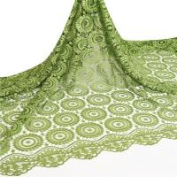 Wholesale Factory Price Polyester Green Guipure Lace Fabric 5 Yards / African Cord Lace For Retail from china suppliers