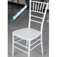 Wholesale best selling hotel white color resin chiavari chair china factory plastic tiffany chair with metal from china suppliers