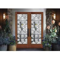 Buy cheap Interior wood doors Classical Art Glass Panels Thermal Sound Insulation  easy to install from wholesalers